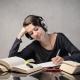 Een geluidswerende hoofdtelefoon helpt je te focussen.